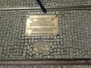 Kawałek linii tramwajowej